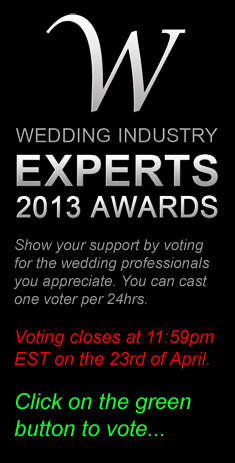 Nominated for Best photographer in Wedding Industry Expert 2013 Awards
